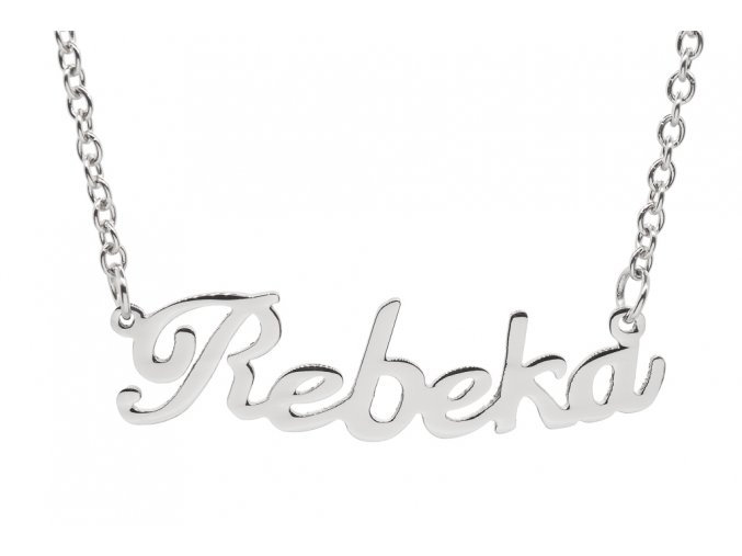 Řetízek se jménem - Rebeka II  chirurgická ocel, dárkově zabaleno