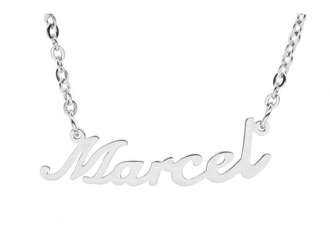 Řetízek se jménem - Marcel  chirurgická ocel, dárkově zabaleno