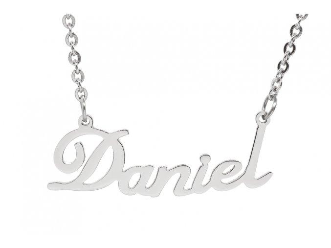 Řetízek se jménem - Daniel  chirurgická ocel, dárkově zabaleno
