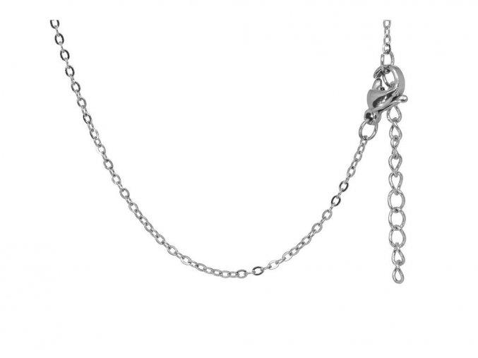 Medailon s TEXTEM/INICIÁLOU na přání - stříbrná  chirurgická ocel, dárkově zabaleno