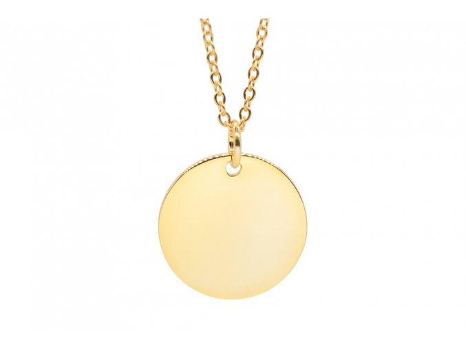 Velký stříbrný medailon s řetízkem a TEXTEM/INICIÁLOU na přání  Rhodiované stříbro Ag 925/1000, dárkově zabaleno