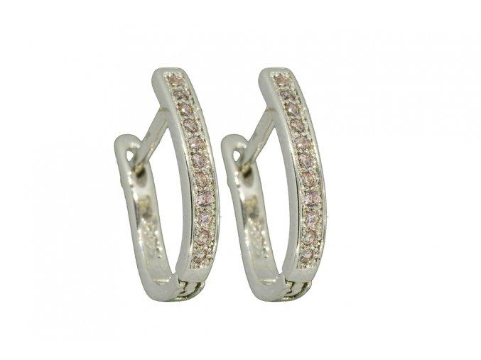 Stříbrné náušnice světle žluté  Rhodiované stříbro Ag 925/1000, dárkově zabaleno