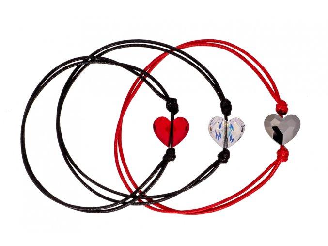 Swarovski elements náramek Srdce  dárkově zabaleno
