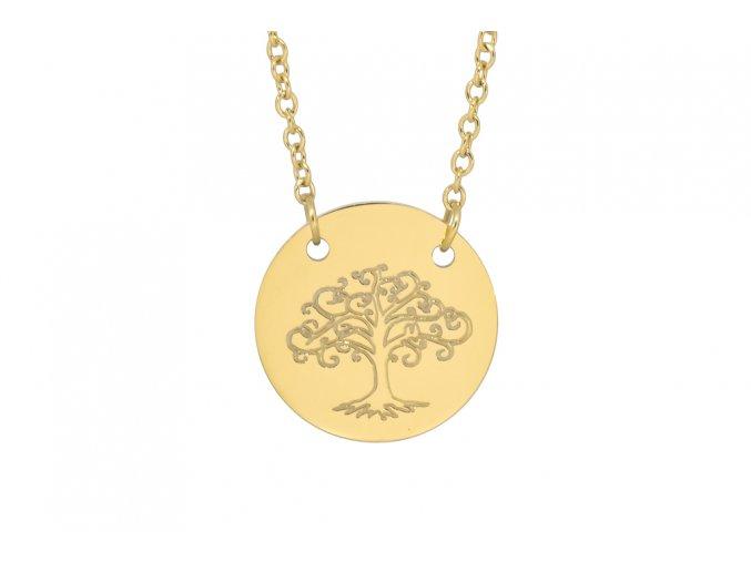 """Řetízek s přívěskem ve tvaru kolečka """"Strom života"""" G"""