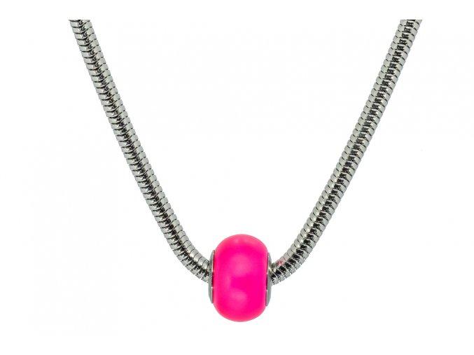 Swarovski koule náhrdelník - růžová
