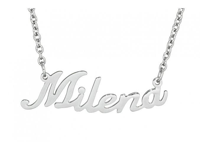 Řetízek se jménem - Milena  dárkově zabaleno