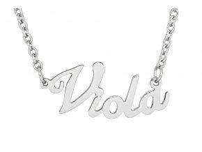 Řetízek se jménem - Viola  dárkově zabaleno