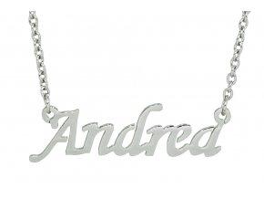 Řetízek se jménem - Andrea  dárkově zabaleno