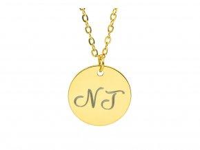 Malý medailonek s TEXTEM na přání - stříbrná  Chirurgická ocel, dárkově zabaleno.