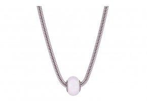 Swarovski koule náhrdelník - perlově bílá