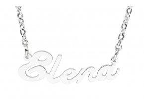 Řetízek se jménem - Elena  dárkově zabaleno
