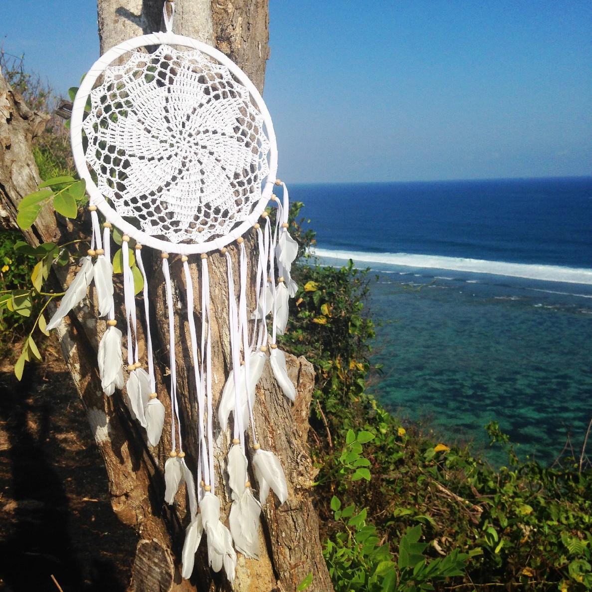 Lapač snů - bílý květ