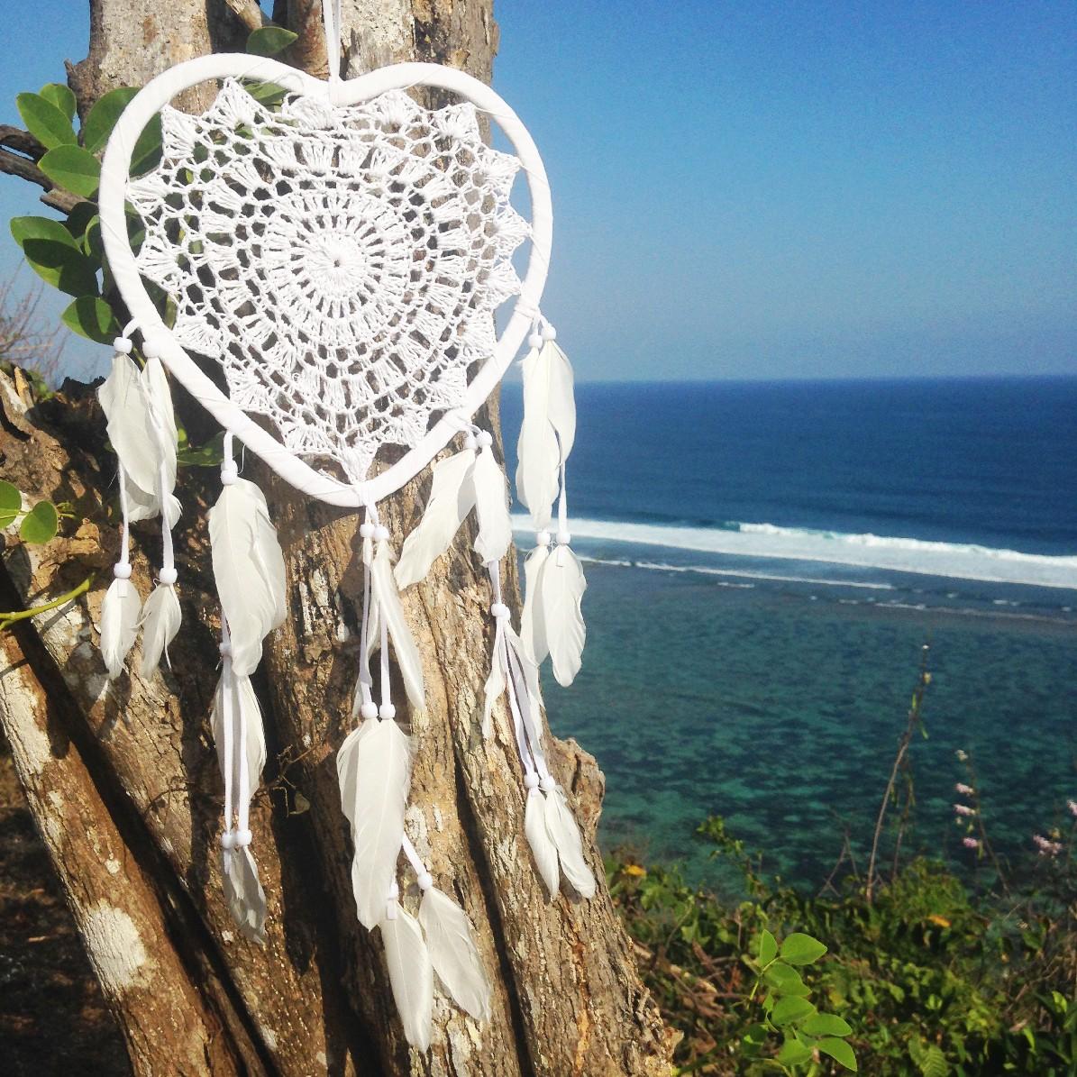 Lapač snů - bíle srdce