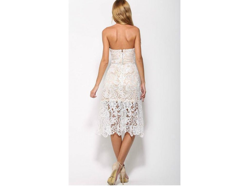 Bílo-vanilkové krajkové šaty - ZAZZA.cz 12afc7021f3