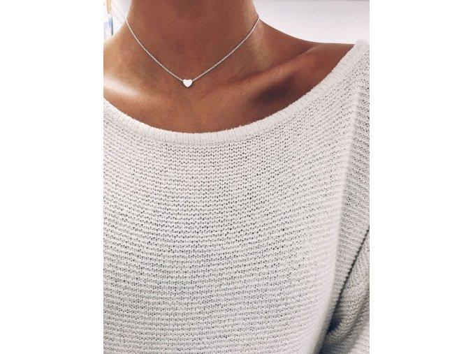 Stříbrný náhrdelník Heart