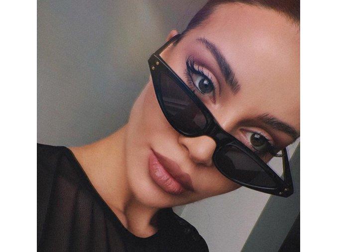Stylové černé brýle Bella