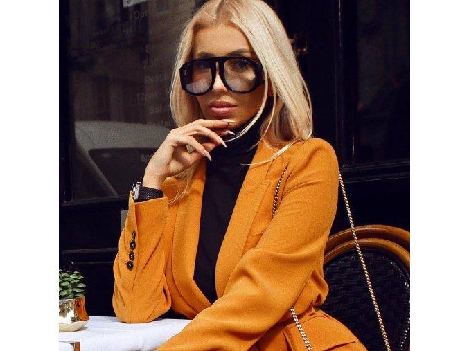 Černé extravagantní brýle Kourtney