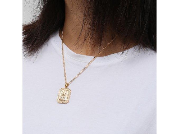 Zlatý náhrdelník s medailónom Saint