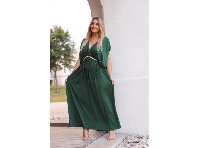 Dlouhé volné zelené šaty (Veľkosť XXXL)