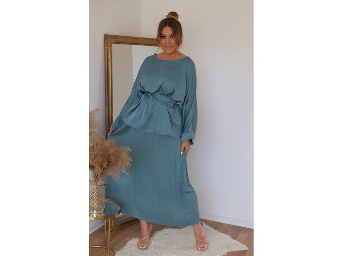 Elegantní set plisované sukně a topu (Veľkosť L/XL)