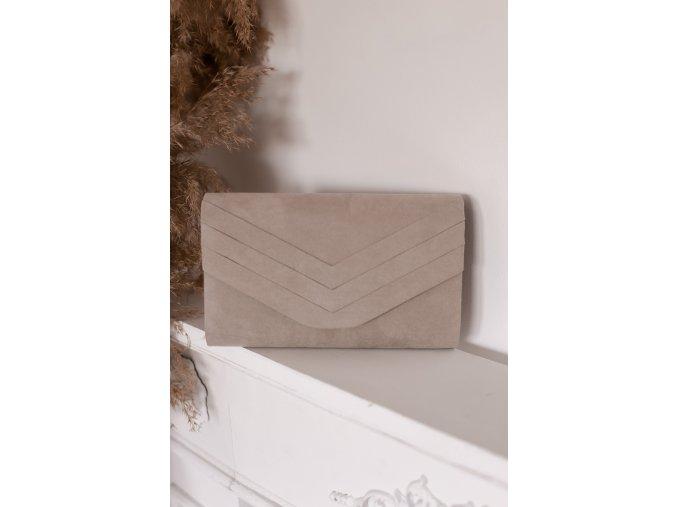 22010 sivo bezova listova kabelka