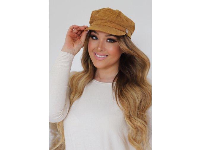 22190 trendy horcicovo hneda ciapka so siltom