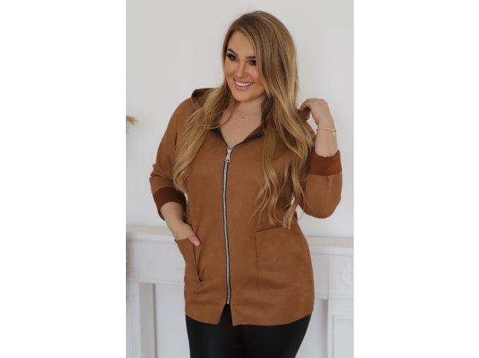 Bunda na zip s kapucí (Veľkosť L/XL)