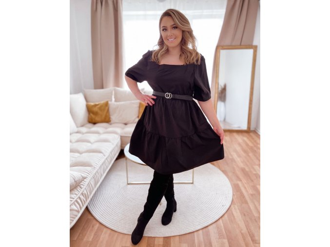 Dámské volné šaty s krátkým rukávem (Veľkosť XXXXL)