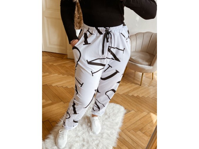 Bavlněné tepláky v bílé barvě (Veľkosť XL)