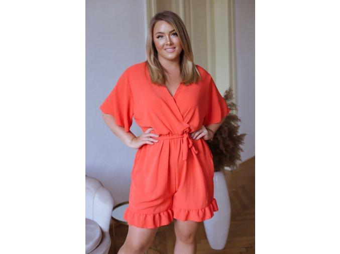 Krátký overal v oranžové barvě (Veľkosť L/XL)