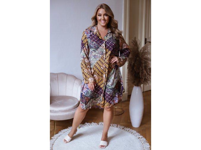 Oversize košilové šaty (Veľkosť XL/XXL)