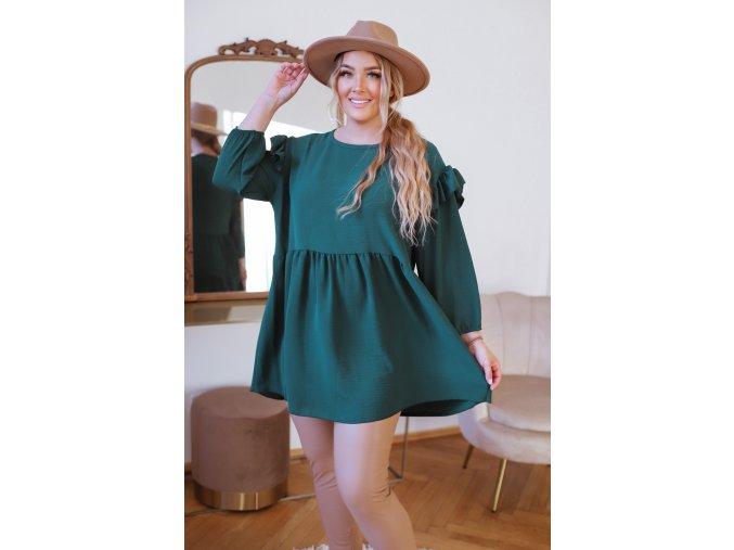 Tunika v zelené barvě s dlouhým rukávem (Veľkosť XL/XXL)