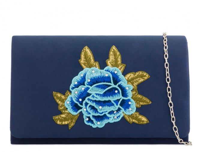 Tmavo modrá kabelka ROSE
