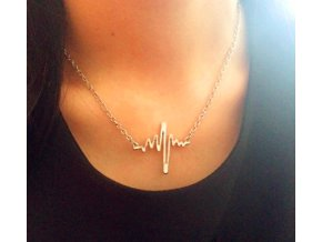 Zlatý náhrdelník Heartbeat