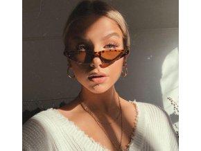 Stylové hnědé brýle Bella