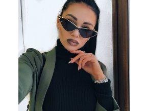 Stylové stříbrno-zlaté brýle Kaya