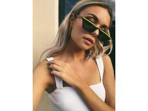 Černé úzké sluneční brýle Riri