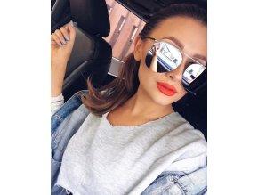 Stříbrné aviator brýle Clarie