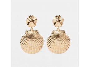 16619 zlate nausnice shell