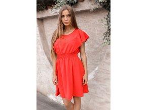 Ležérní červené šaty (Veľkosť S/M)