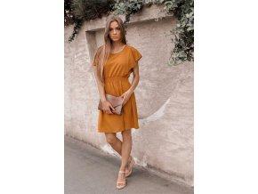 Ležérní hořčičné šaty (Veľkosť S/M)