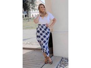 Modrá károvaná sukně (Veľkosť XL)