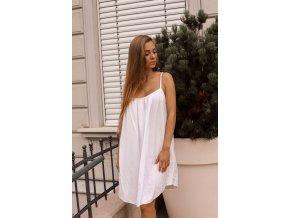 Volné šaty s odhalenými zády - bílá (Veľkosť Univerzální)