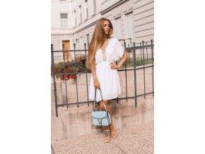 Krátké volné šaty - bílá (Veľkosť S/M)