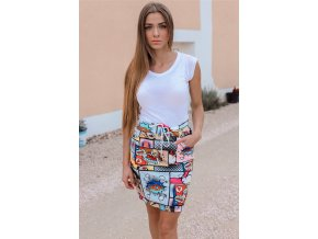 Barevná komixová sukně WOW (Veľkosť S/M)