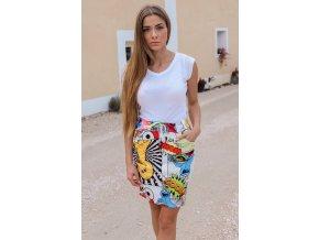 Barevná komixová sukně COOL (Veľkosť S/M)