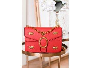 18239 trendy cerveno zlata kabelka