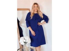 Modré šaty s volánem (Veľkosť XXXXL)