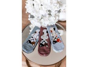 Set tří dámských ponožek Kitty (Veľkosť 39-42)