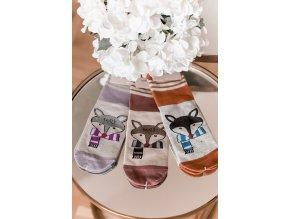 Set tří párů dámských ponožek Fox (Veľkosť 39-42)